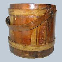 Antique Firkin of Maple, Pine, and Oak Treen