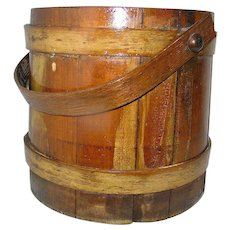 Antique Firkin of Maple, Pine, and Oak Treen