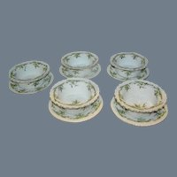 Set of 5 porcelain deserts by Z, S,& C0. Bavaria