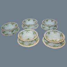 Set of 5 porcelain deserts by Z, S,& C0. Bavaria