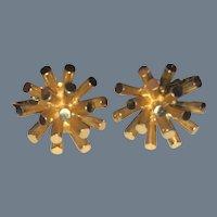Pair of Boucher Earrings in goldtone