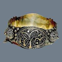 Antique Arabic Silver Cuff Bracelet
