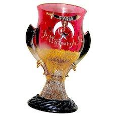 Shriner's Glass Sourvenir Trophy or Drinking Cup 1908