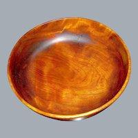 Vintage Large Treen Cherry Wood Bowl