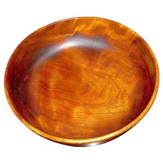 Vintage Large Treen Cherry Wood Bowl