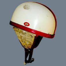 Vintage Bike Helmet marked Casque Moto initialed NF