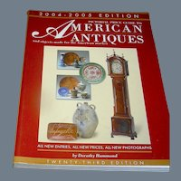 Book, Pictorial Guide To American Antiques 2004-2005