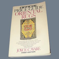 Vintage Book, Official Price Guide Oriental Rugs, Ware