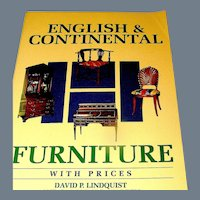 Offered is a furniture guide, English & Continental Furniture with Prices