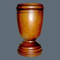 Vintage turned and carved Vase Vessel Mortar