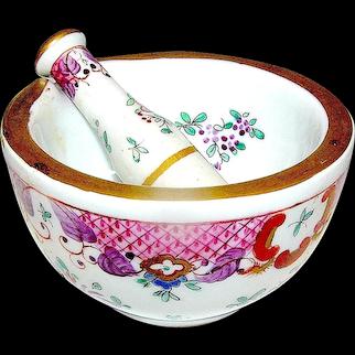 Antique Porcelain Mortar and Pestle Vincent Dubois