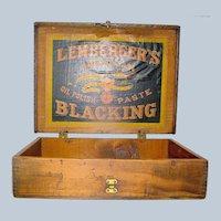 Vintage Advertising  Box Lemberger's Blacking Weikel & Smith Co.
