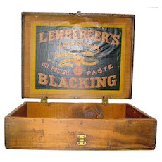 Vintage Advertising  Box Lemberger's Blacking Weikel & Smith Co.