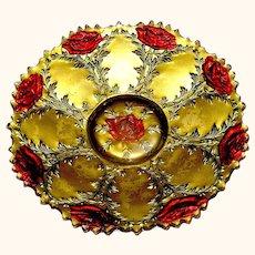 Vintage Goofus Glass plate dish