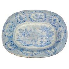 Historical Staffordshire Blue Transferware Bowl marked Ridgways pattern Orient