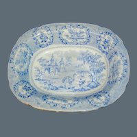 Historical Staffordshire Transferware Bowl in the Oriental Pattern