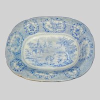 Historical Staffordshire Transferware Bowl in the Oriental Pattern