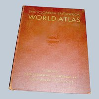 Vintage Atlas Book Brittanica WW11