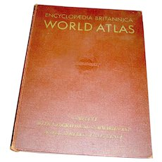 Vintage Atlas Book Brittanica WW11