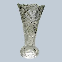 Vintage Pressed Glass Vase signed Imperial Glass