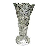 Vintage Pressed Glass Vase signed Imperial Glass
