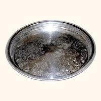 Silver Plate Large Round Tray