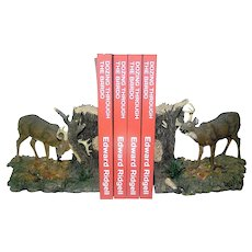 Vintage Bookends in Deer Sculpture