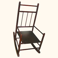 Primitive Child's Rocking Chair all original brown paint