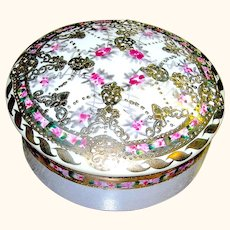 Vintage Covered Nippon Dish Floral