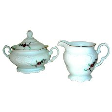 Porcelain Creamer and Sugar Royal Kent