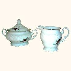 Porcelain Creamer and Sugar Royal Kent
