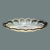 Heisey Oval Dish Priscilla Pattern