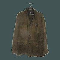 Vintage Brown Suede Coat Brooks Brothers