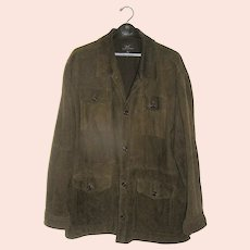 Vintage Brown Suede Coat Brooks Brothers