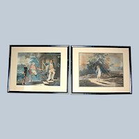 Two Antique Mezzo Prints, Reverend Mathew Peters printed by Jean Paul Simon, 18th c.
