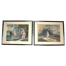 Two Antique Mezzo Prints, Reverend Mathew Peters printed by Jean Paul Simon, 18th c.