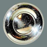 Vintage Silverplate plate marked Castleton International Silver