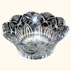 Vintage Clear Glass Crystal Fruit Bowl