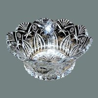 Vintage Heavy Crystal Glass Bowl