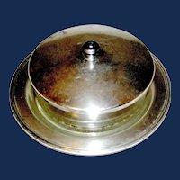 Vintage Covered Trinket box silverplate Poole