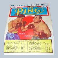 Vintage Magazine The Ring, July 1939