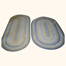 Pair of Vintage Braided Rugs