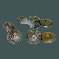 Set of Eight Matching Uniforn Buttons from French WW1 uniform