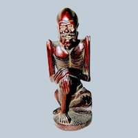 Antique Root Carving of an Oriental Wise Man