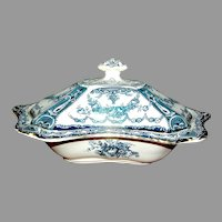 Antique English Decorated Ironstone Tureen Bishop & Stonier