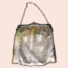 Antique Whiting and Davis Mesh Purse Handbag