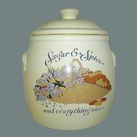 Vintage Cookie Jar Sugar and Spice