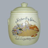 Vintage Cookie Jar Sugar and Spice