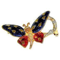 Brooch, Butterfly signed Boucher