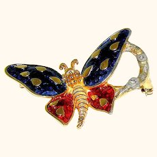 Brooch, Butterfly signed Boucher